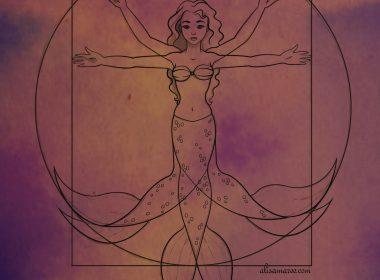 Vitruvian Mermaid