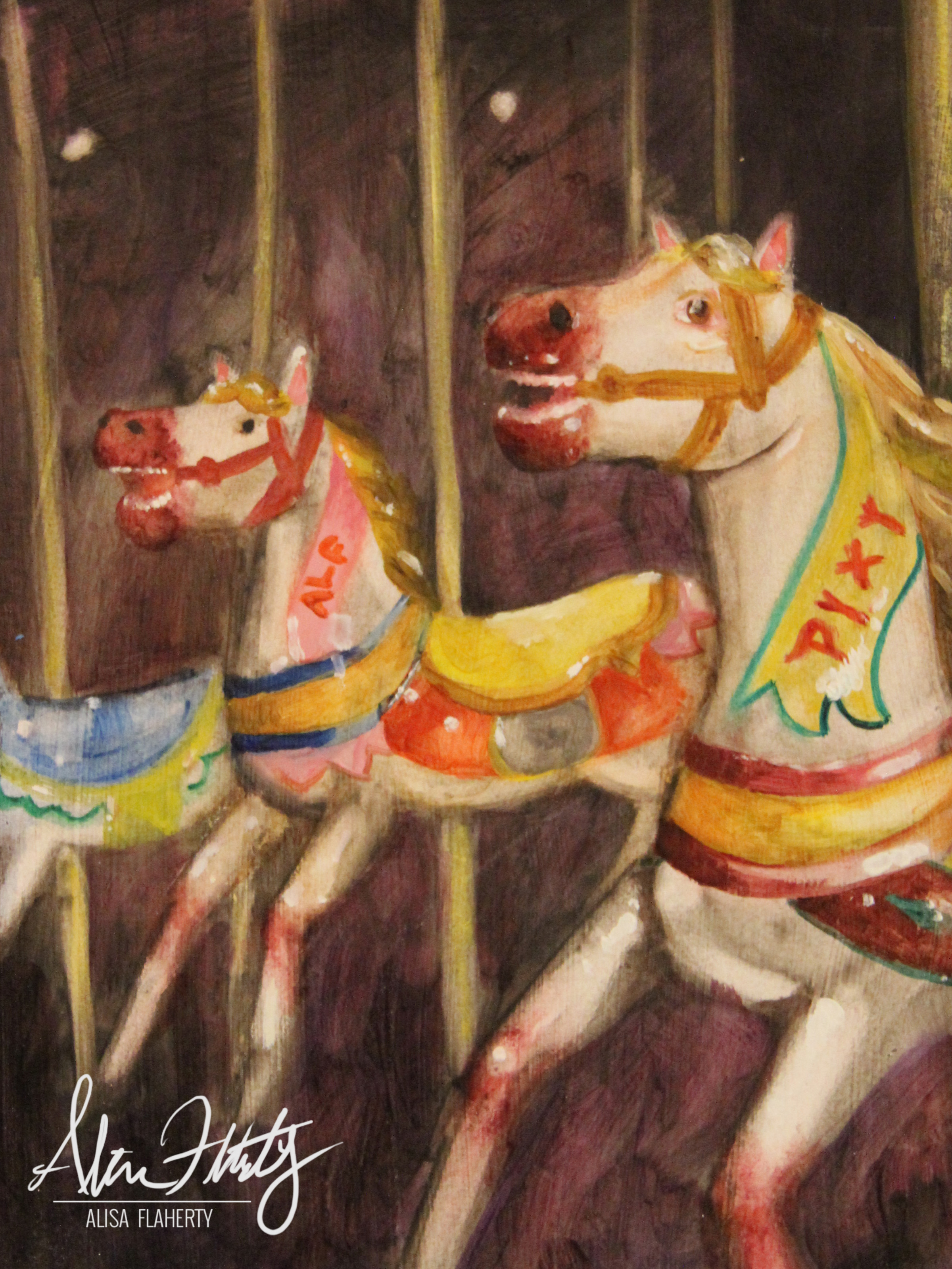 Carousel Oil Painting