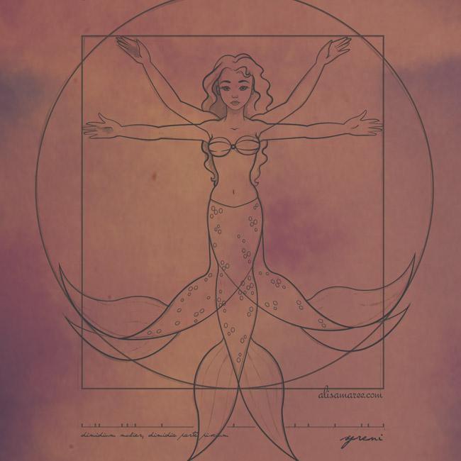 Vitruvian Mermaid [Parody]