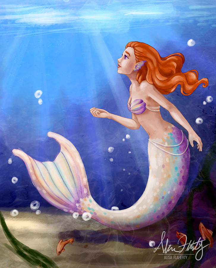 Underwater Mermaid Redraw